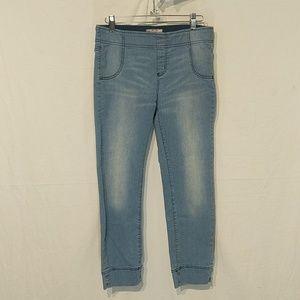 Free People Leggings Blue Jean Jeggings Size 29 !